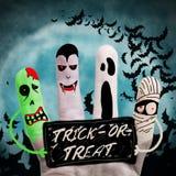 Mostri di Halloween Fotografia Stock Libera da Diritti