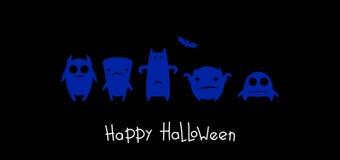 Mostri divertenti Halloween Immagini Stock Libere da Diritti