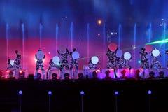 Mostri il cerchio di luce a Mosca Fotografie Stock