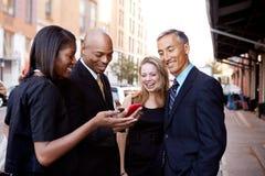 Mostri il commercio del telefono Fotografie Stock