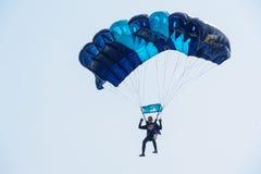 Mostri il programma del paracadutista Fotografie Stock Libere da Diritti