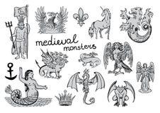 Mostri medievali Immagini Stock Libere da Diritti