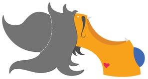 Mostro dai capelli pazzesco Fotografie Stock