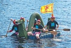 Mostro del Loch Ness macchiato Immagini Stock Libere da Diritti