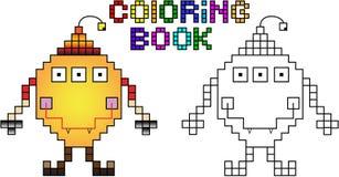 Mostro del pixel del libro da colorare in primo luogo Illustrazione di Stock
