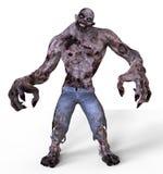 mostro dello zombie dell'illustrazione 3D illustrazione di stock