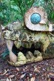 Mostro di pietra maya Immagine Stock