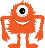 Mostro Eyed dell'arancio quello sfocato simile a pelliccia illustrazione vettoriale