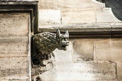 Mostro Gargouille sulla chiesa Fotografia Stock