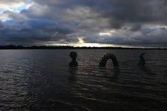 Mostro marino nel lago medicine Immagine Stock