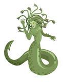Mostro romano greco mitologico della donna del serpente del gorgon della medusa Fotografia Stock