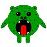 Mostro rotondo verde illustrazione di stock