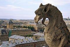 Mostro sul Notre Dame de Paris Immagini Stock Libere da Diritti