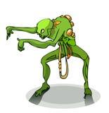 Mostro verde dello zombie Fotografia Stock