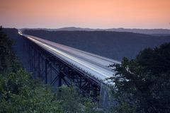 mostu wąwozu nowej rzeki Obrazy Royalty Free