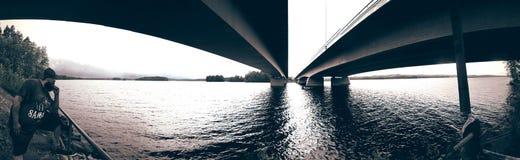 Mosty łączący Zdjęcie Royalty Free