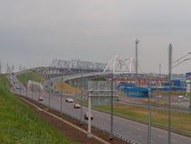 Mosty na Volga rzece Zdjęcia Royalty Free