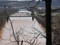 Mosty Nad rzeką Obraz Stock