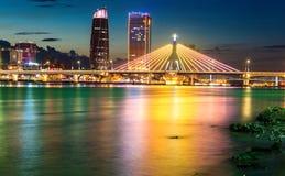 Mosty Przez rzekę Han Danang Wietnam Zdjęcie Royalty Free