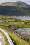 Mosty przy Fredvang w Lofoten Norwegia Obraz Royalty Free