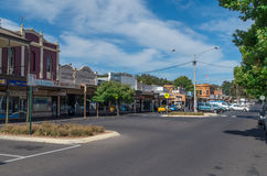 Mostyn Street in Castlemaine Stock Image