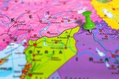 Mosul Iraq map Stock Photos