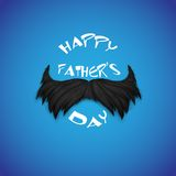 Mosutache in Happy Father's Day background Stock Photo