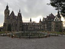 Moszna城堡宫殿在波兰 库存照片