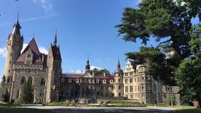 The Moszna Castle - Poland stock footage
