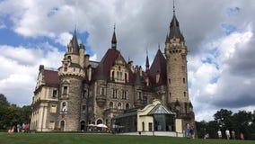 The Moszna Castle - Poland stock video