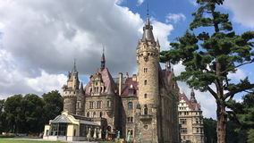 The Moszna Castle - Poland stock video footage