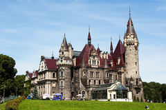 Moszna castle Stock Photo