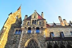 Moszna Castle, Silesia, Poland, October 2017. Moszna, Poland, October 2017. Façade of Moszna Castle stock image