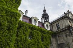 MOSZNA, POLEN - 4. JUNI 2017: Das Moszna-Schloss ist ein historisches Lizenzfreie Stockfotos