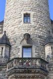 Moszna-Schloss des 17. Jahrhunderts, Turm mit Details, oberes Schlesien, Polen Lizenzfreie Stockfotos