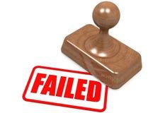 Mot échoué sur le timbre en bois Photographie stock
