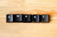 Mot éveillé photo libre de droits