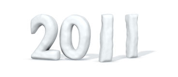 Mot 2011 de neige Image libre de droits