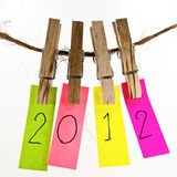 mot 2012 coloré Image stock