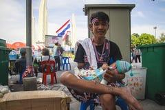 Mot amnestiräkninglagen i Thailand. Arkivbilder