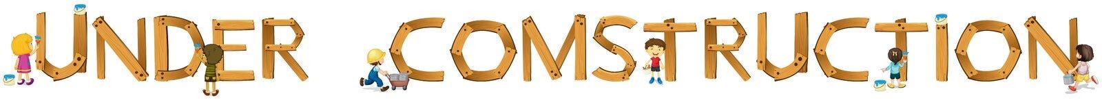 Mot anglais en construction Images stock