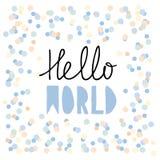 mot bakgrund isolerade härliga hälsningar den plattform vita kvinnavärlden Baby showervektorillustration Skriftliga bokstäver för vektor illustrationer