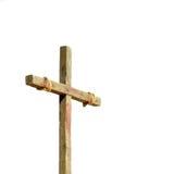mot bakgrund ställde korset in white Arkivbild