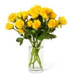 mot bakgrundsbukett isolerad vit yellow för ro Royaltyfria Bilder