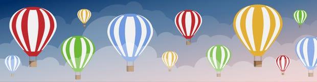 mot ballongskyen Stock Illustrationer
