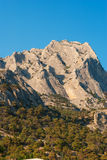 mot bergskyen Arkivbild