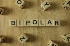 Mot bipolaire des blocs en bois photos stock