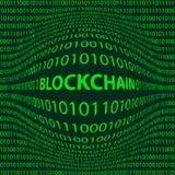 Mot Blockchain de protubérance Photographie stock libre de droits