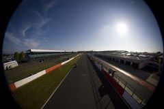 MOT: British Superbike warm up Royalty Free Stock Photo