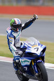 MOT: British Superbike warm up Royalty Free Stock Photos